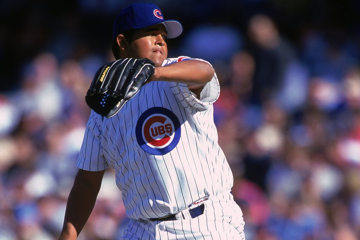 Ruben Quevedo, on the mound for the Cubs on April 14, 2000