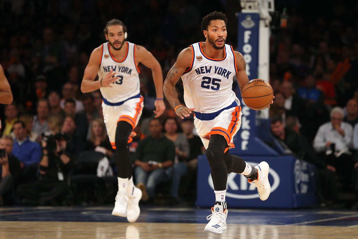 Image result for Derrick ROse Joakim NOah knicks