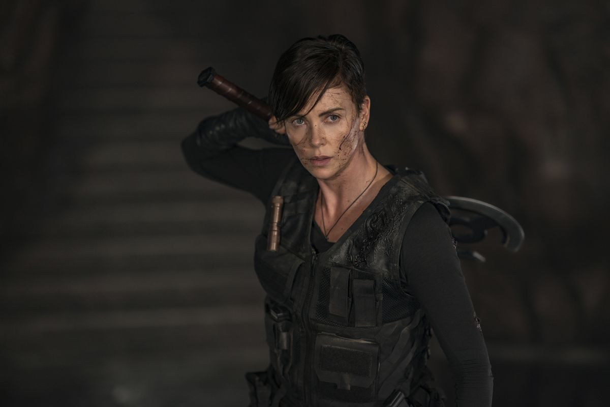 """The immortal Andy (Charlize Theron) leads a team of fighters viewed as mercenaries on Netflix's """"The Old Guard."""""""