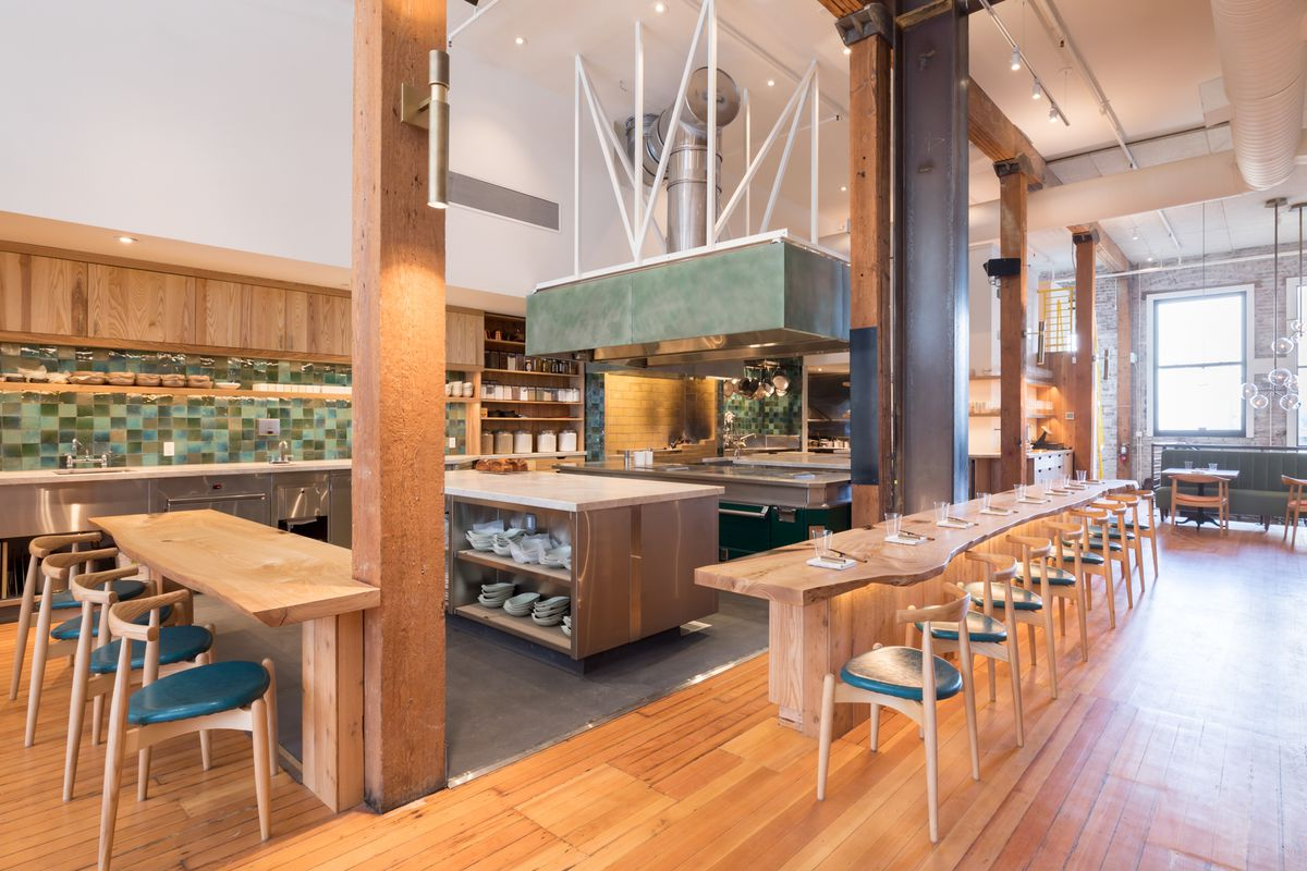 The open kitchen at Birdsong