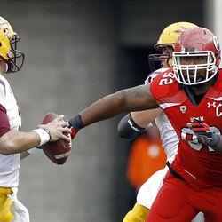 Rice-Eccles Stadium, Salt Lake City, Utah. Utah loses 35-14. Utah defensive lineman Star Lotulelei