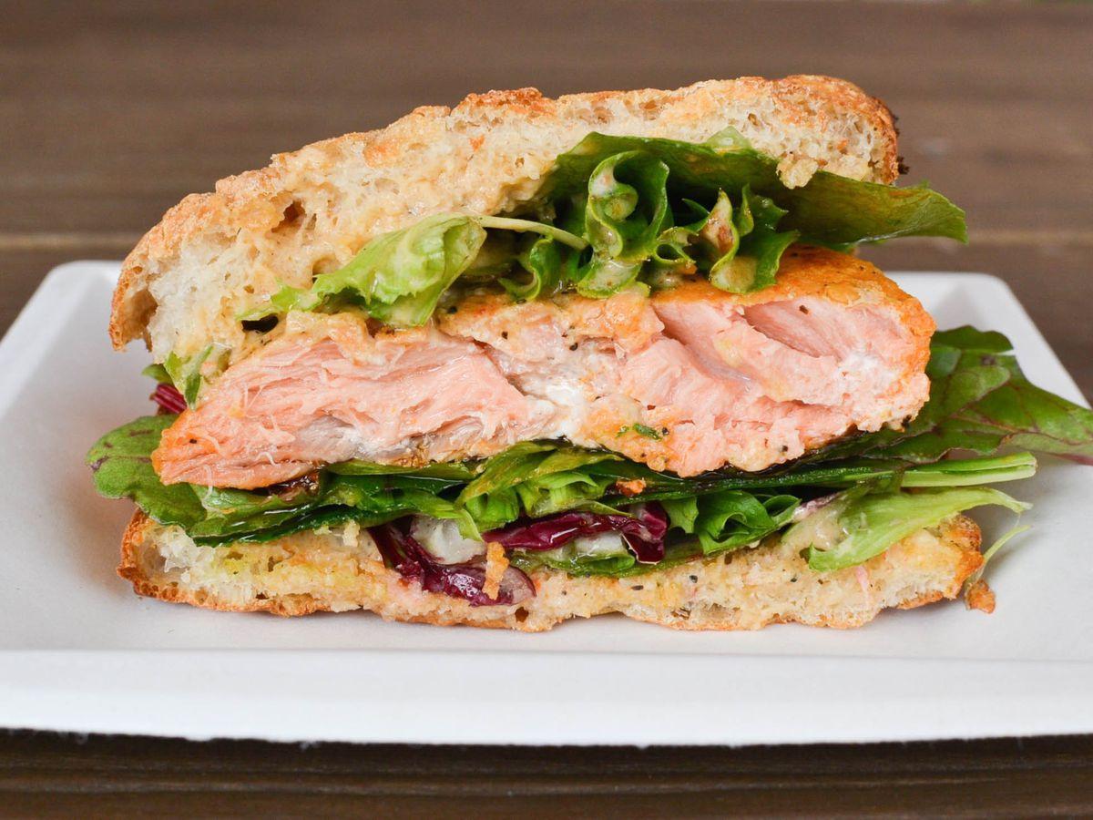 Alaskan salmon sandwich