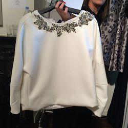 Embellished Scuba Sweatshirt, $225