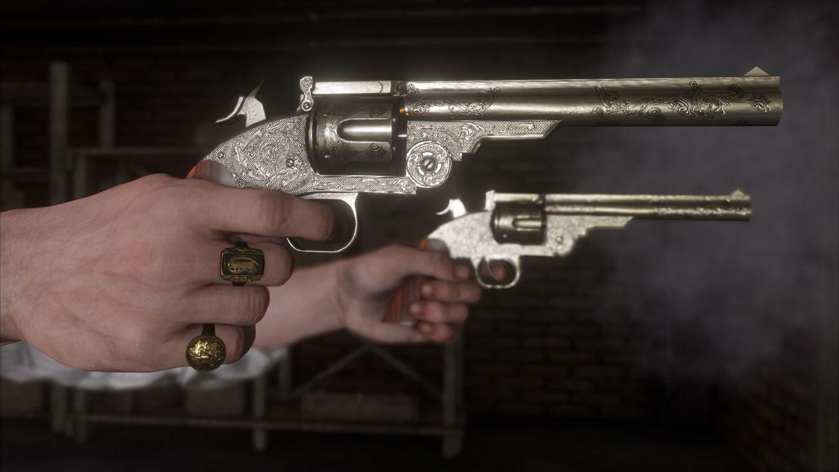 Red Dead Redemption 2 - dual-wielding revolvers