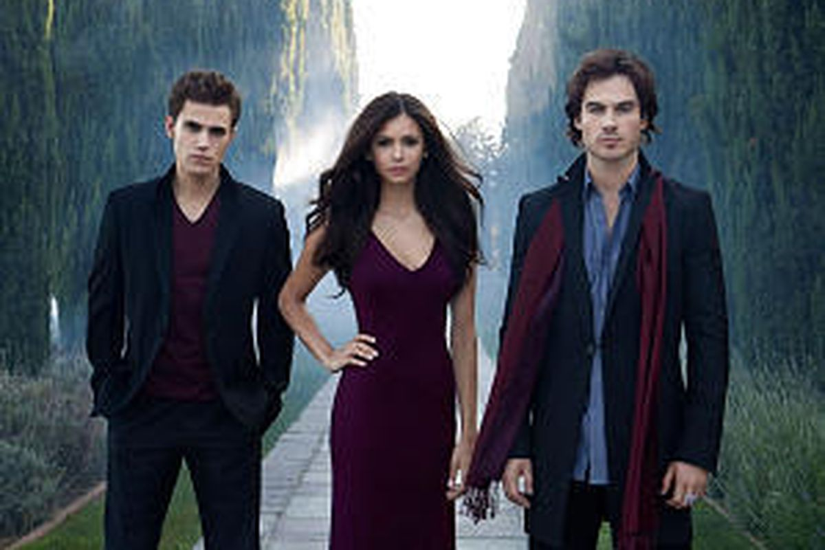 """Paul Wesley, left, Nina Dobrev and Ian Somerhalder star in """"Vampire Diaries,"""" which debuts Sept. 10 on The CW."""