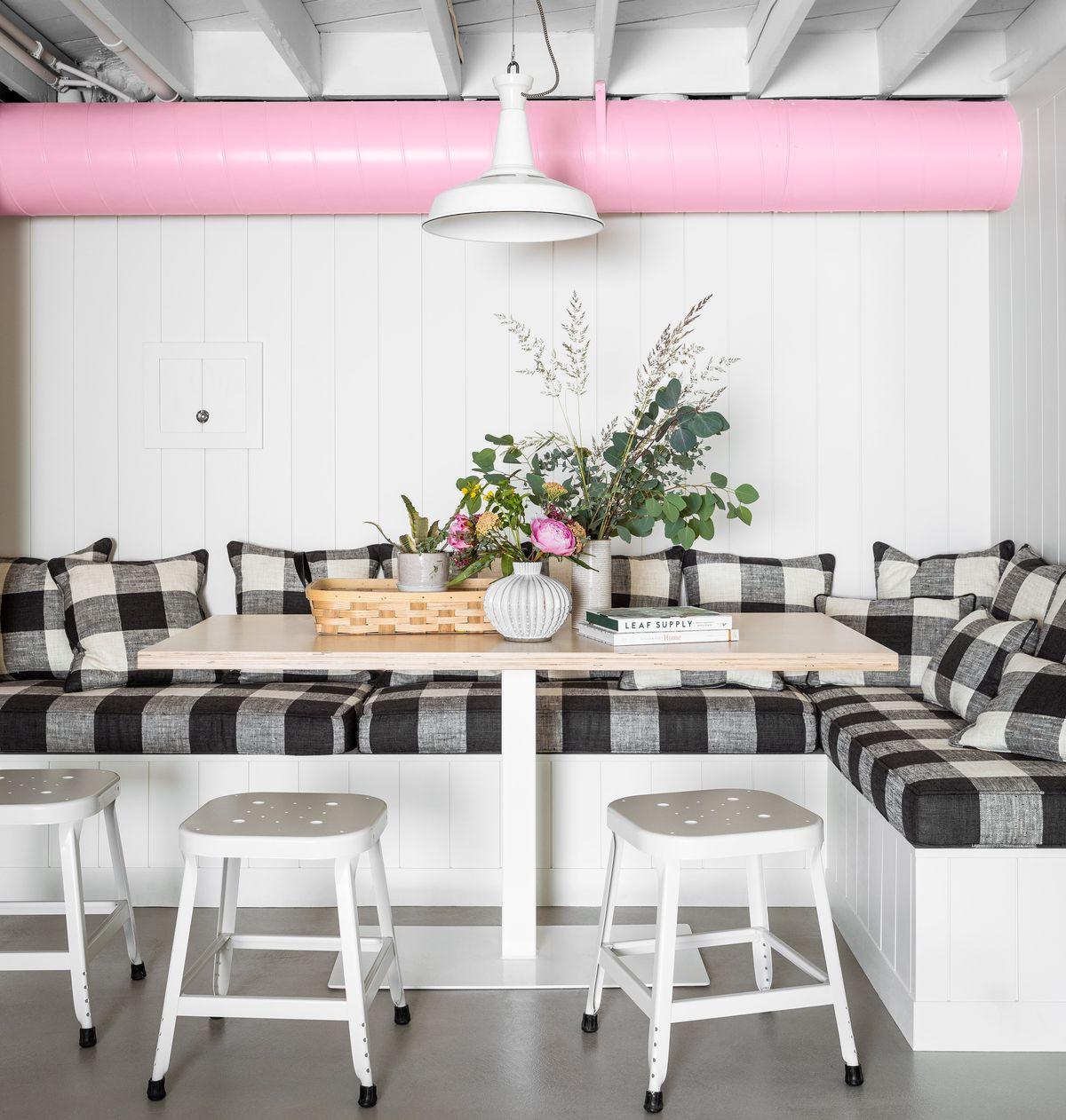 basement remodel in Portland OR, breakfast nook, Loft-Like Lower Level, Sep/Oct 2020
