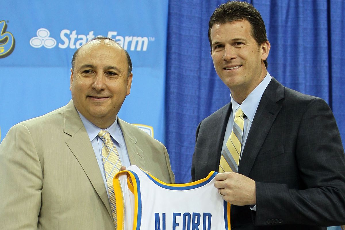 Dan Guerrero announcing his hiring of the worst basketball Coach in UCLA history since WWII.