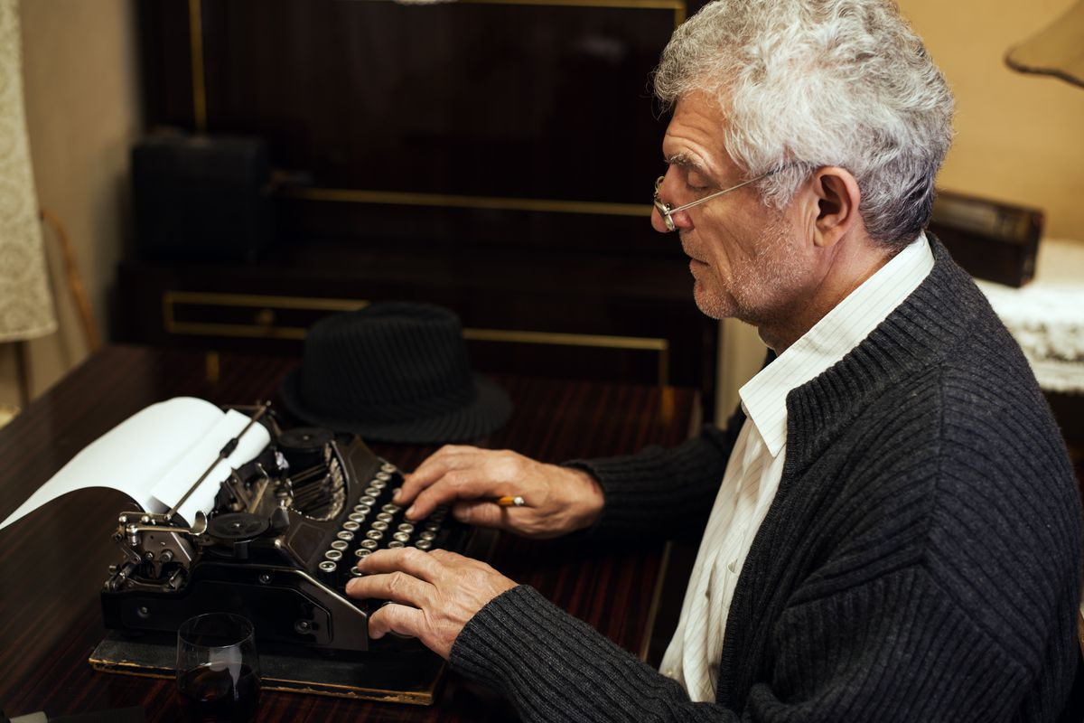 This man knows it's never too late to write his first novel.