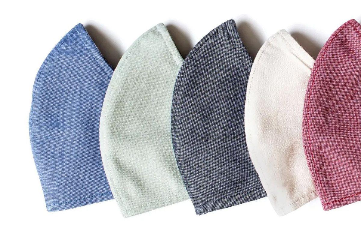 A row of face masks