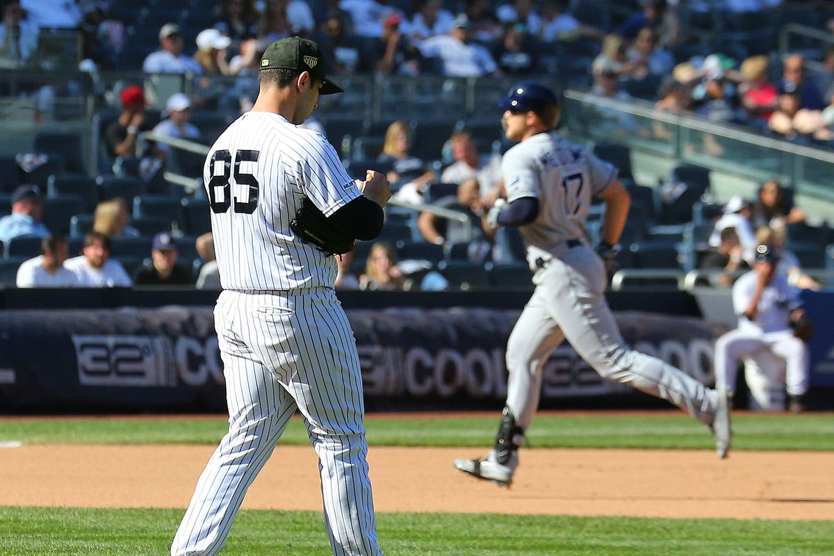 Yankees can't hold on in extras, lose to Rays 2-1