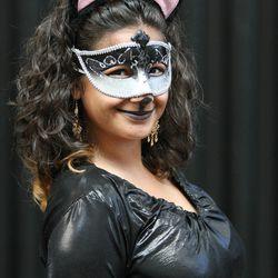 Jacqueline Sender is Catwoman at Comic Con in Salt Lake City Thursday, Sept. 5, 2013.