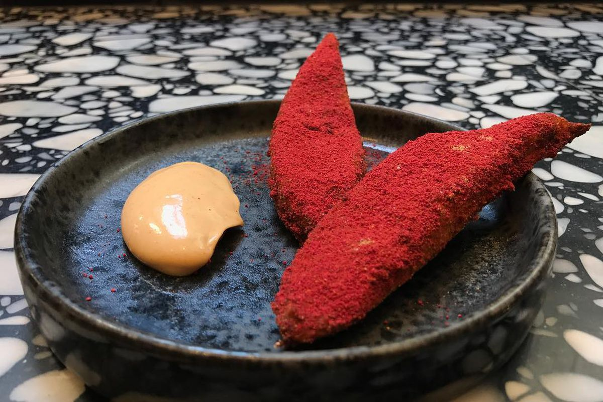 Plantain with scotch bonnet at Ikoyi, the 2019 one Michelin star restaurant in London