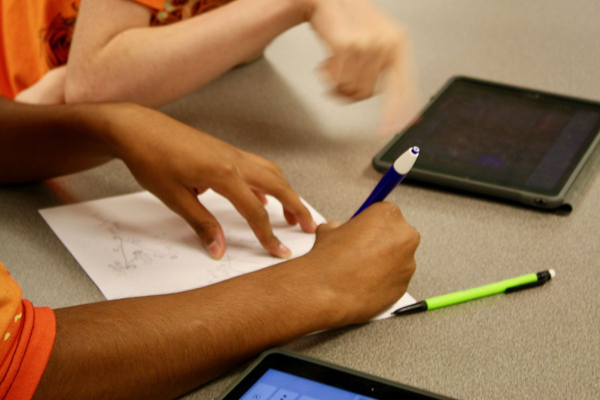Students work on an assignment at Decatur Central High School. (File Photo)