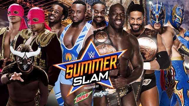 wwe summerslam new day prime time players lucha dragons los matadores