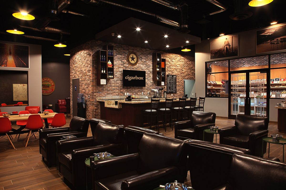 Cigarbox brings the cigars whiskey and more eater vegas for Design in a box interior design