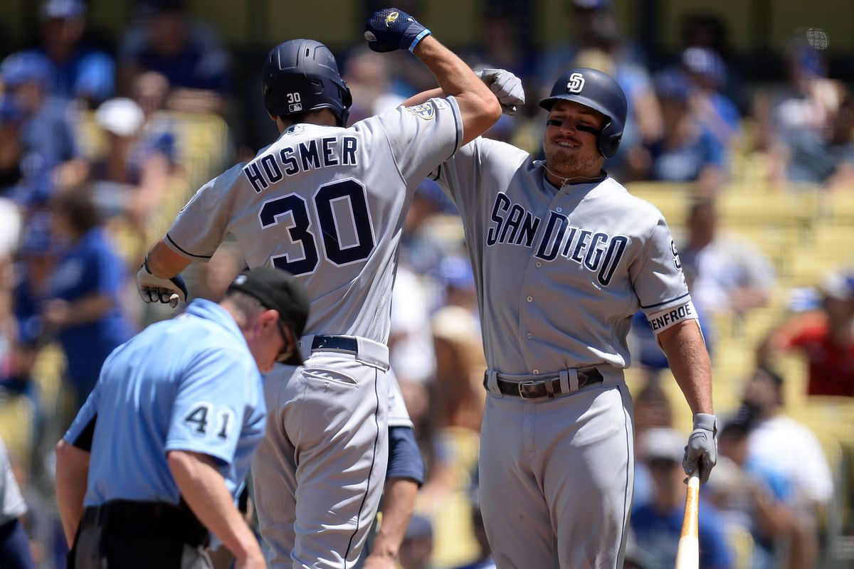 hot sale online 9d15f ef6be Hosmer 5 RBI's, not enough for a win - Gaslamp Ball