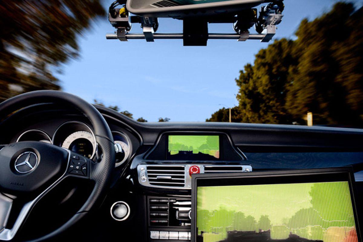 Mercedes developmental '6-D' steroscopic sensor system