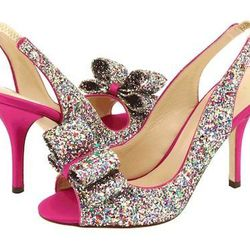 """<a href=""""http://www.katespade.com/charm-heels/S942345-P,en_US,pd.html?dwvar_S942345-P_color=650&dwvar_S942345-P_size=10#start=60&cgid=ks-shoes-view-all"""">Kate Spade New York 'Charm' Slingback Pump</a>s, $328: Glitter is always welcomed! [Photo: Kate Spade]"""