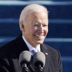 President Joe Biden speaks during the 59th Presidential Inauguration at the U.S. Capitol in Washington, Wednesday, Jan. 20, 2021