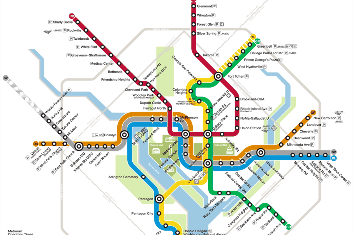 Map Of Metro Dc What is your ideal, unrealistic D.C. Metro transit line?   Curbed DC