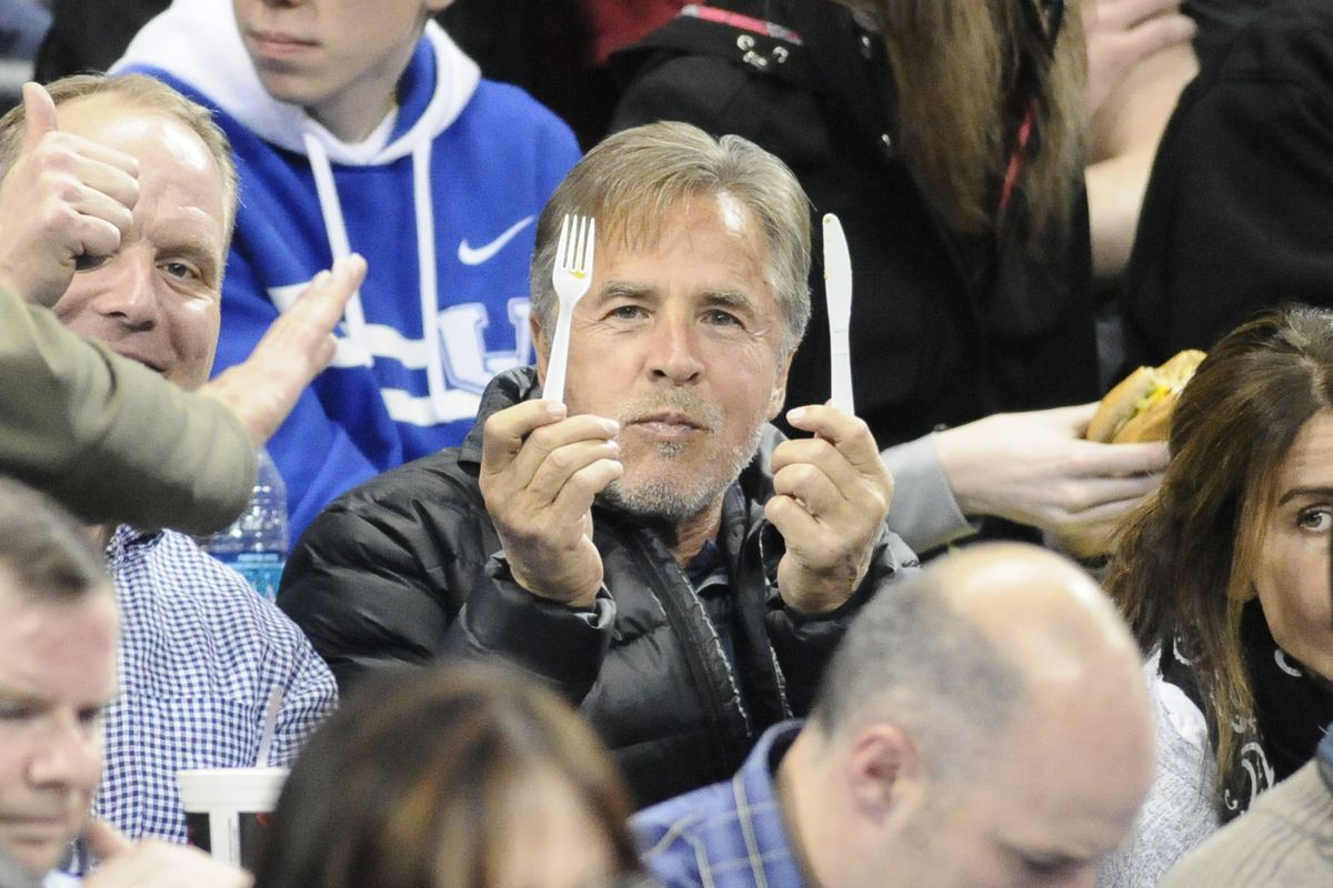Don Johnson is hungry. Won't someone feed him?