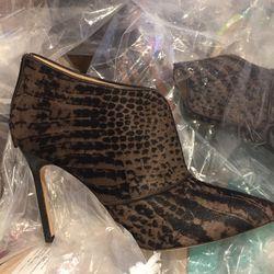 Snake fur boot, size 37, $350