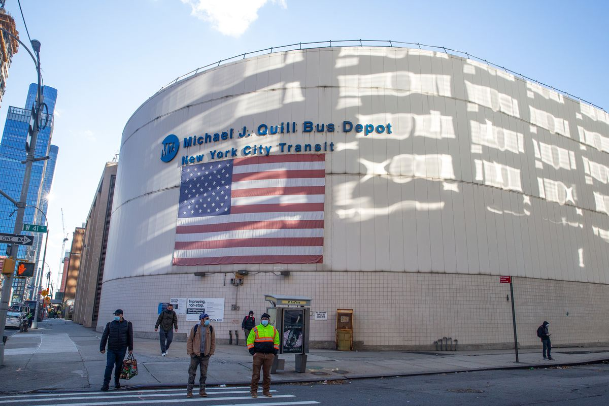 """The MTA's Michael J. Quill Depot on the West Side is said to be in a """"very high"""" risk flood zone."""