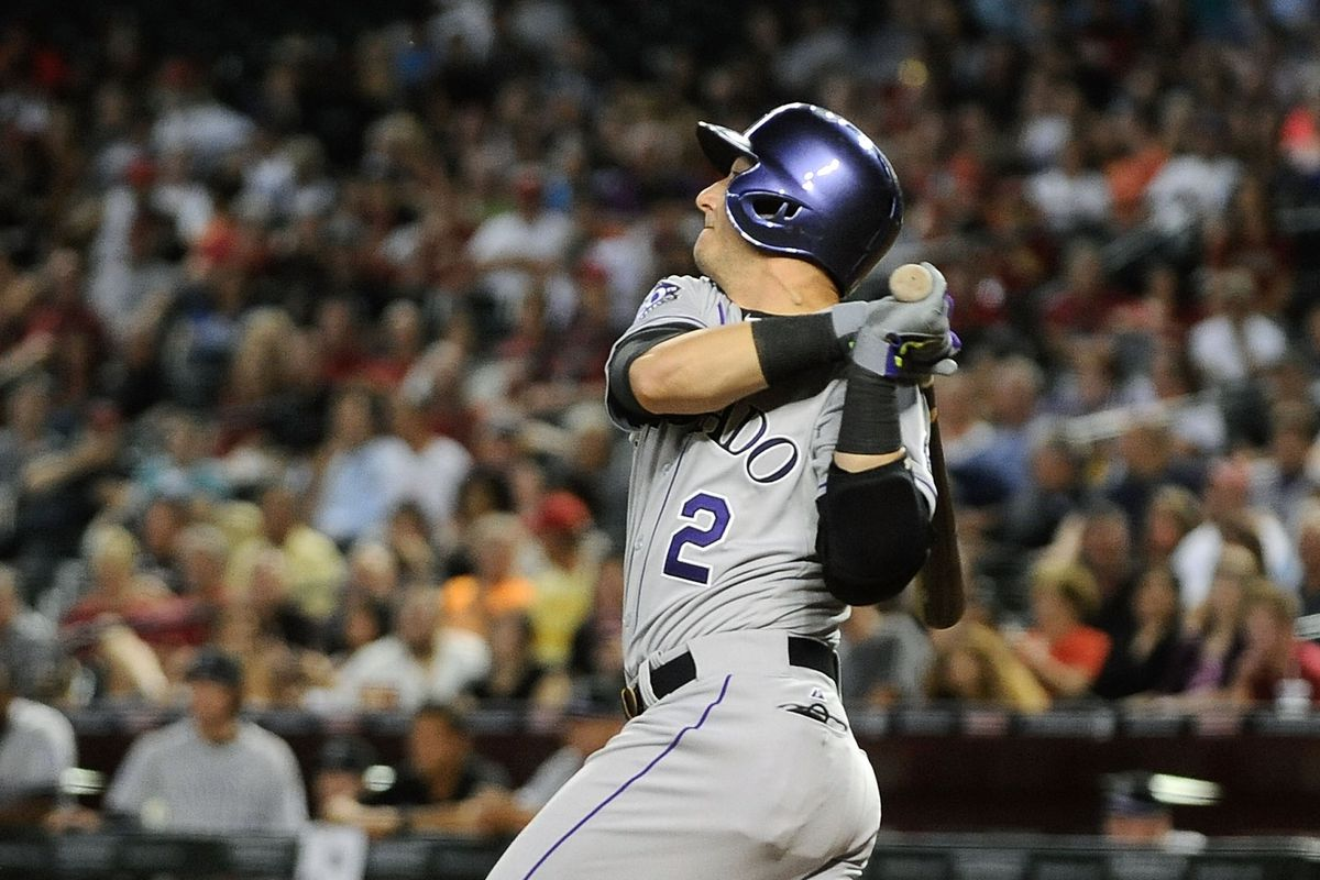 Troy Tulowitzki delivers a three-run double that would turn out to be the game-winner against the Arizona Diamondbacks last night.