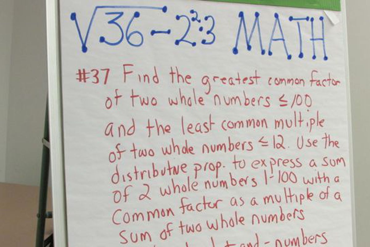 Notes from a committee during work to create new Indiana math standards in last year.