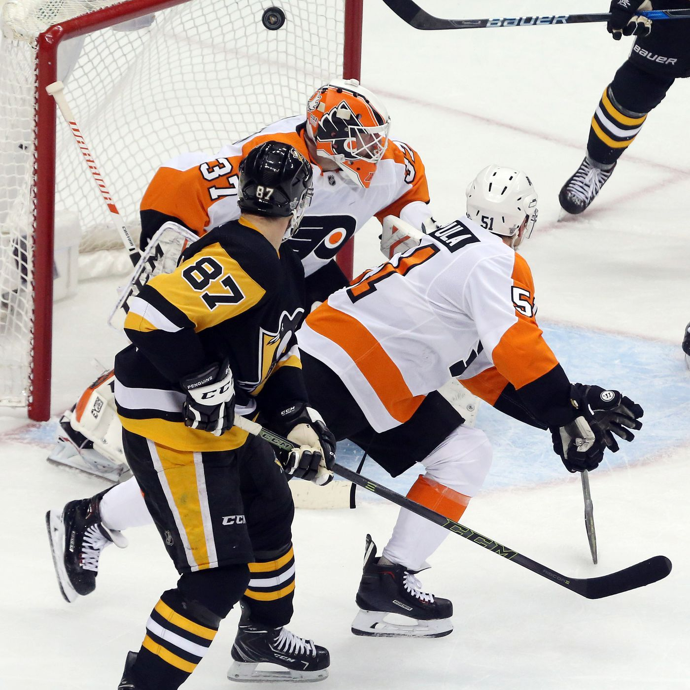 a59fdecda96 Sidney Crosby s latest highlight goal keys hat trick   Penguins rout of  Flyers