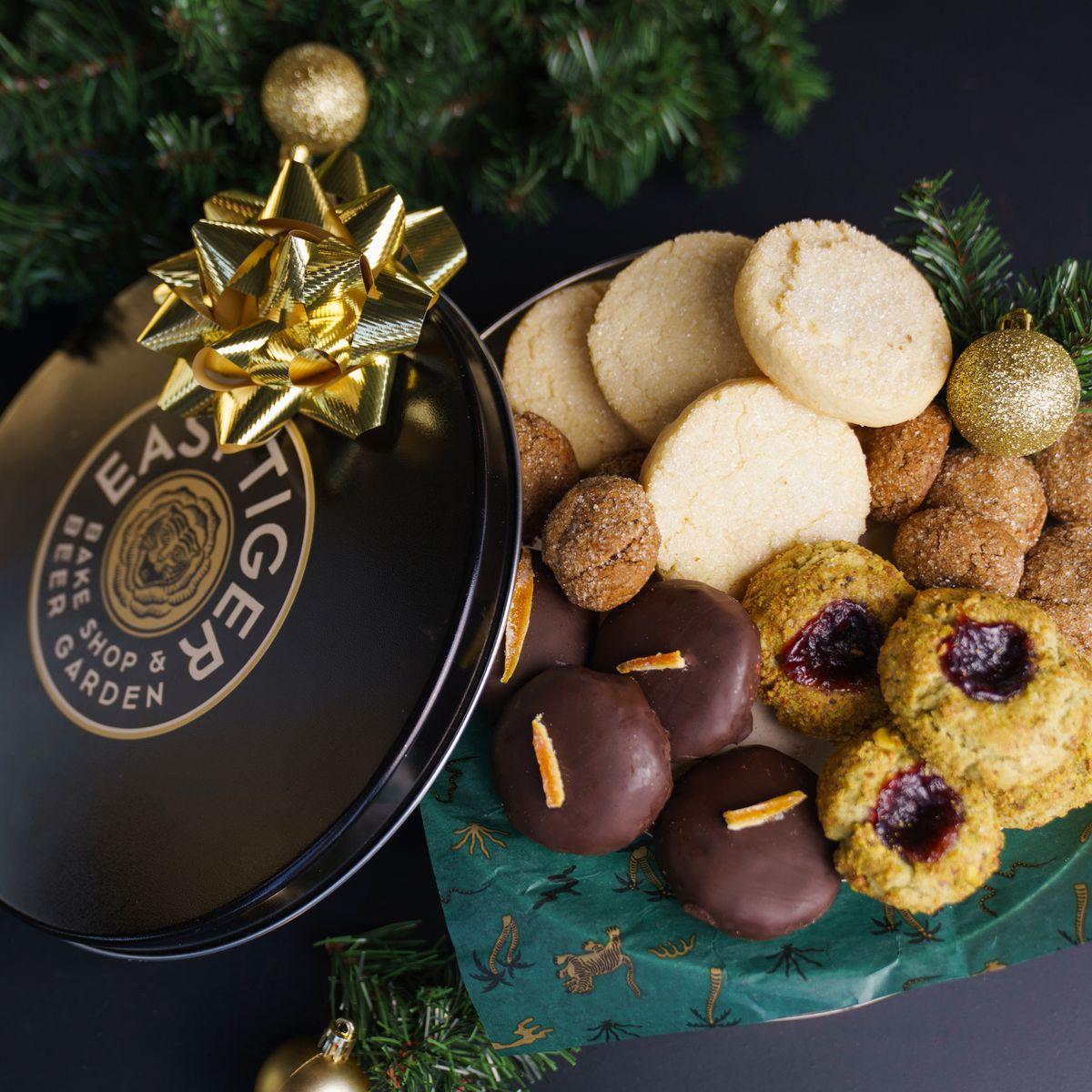 Easy Tiger's holiday cookie tin