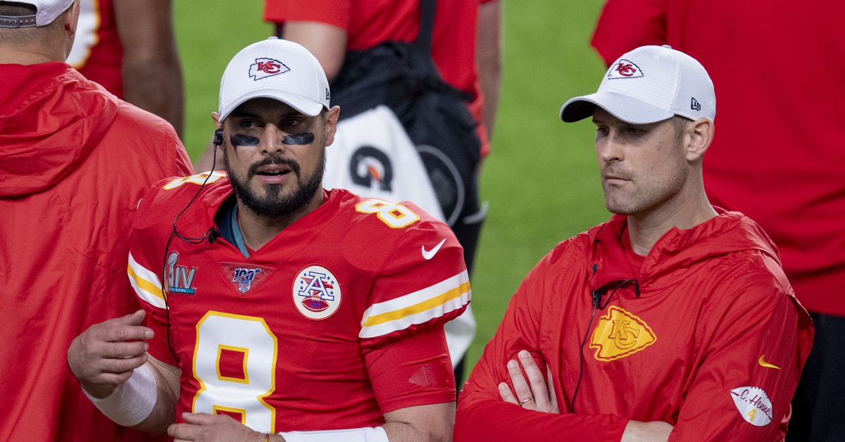 Chad Henne and Matt Moore remain the front-runners to back up Patrick Mahomes