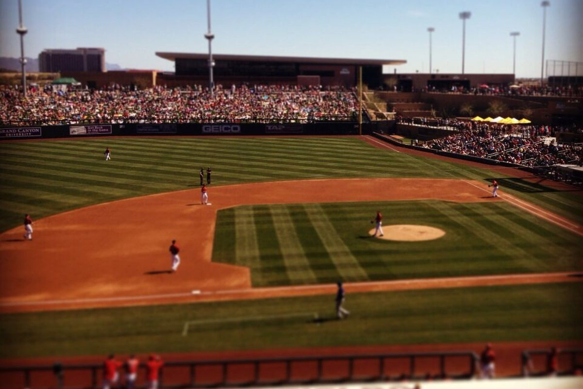 """""""Great day for a @Dbacks Cactus League game huh?"""""""