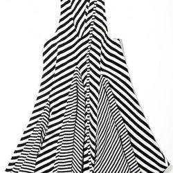 Stripe paneled dress, $495