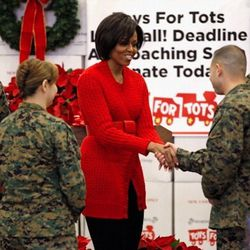 Toy sorting at Joint Base Anacostia-Bolling in Washington, DC on December 17, 2010