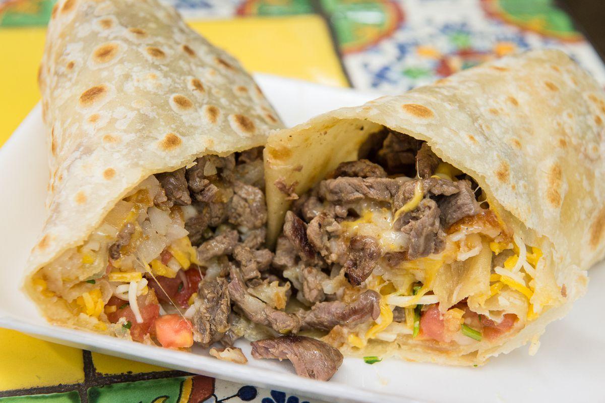 California burrito at El Puerto in Spring Valley