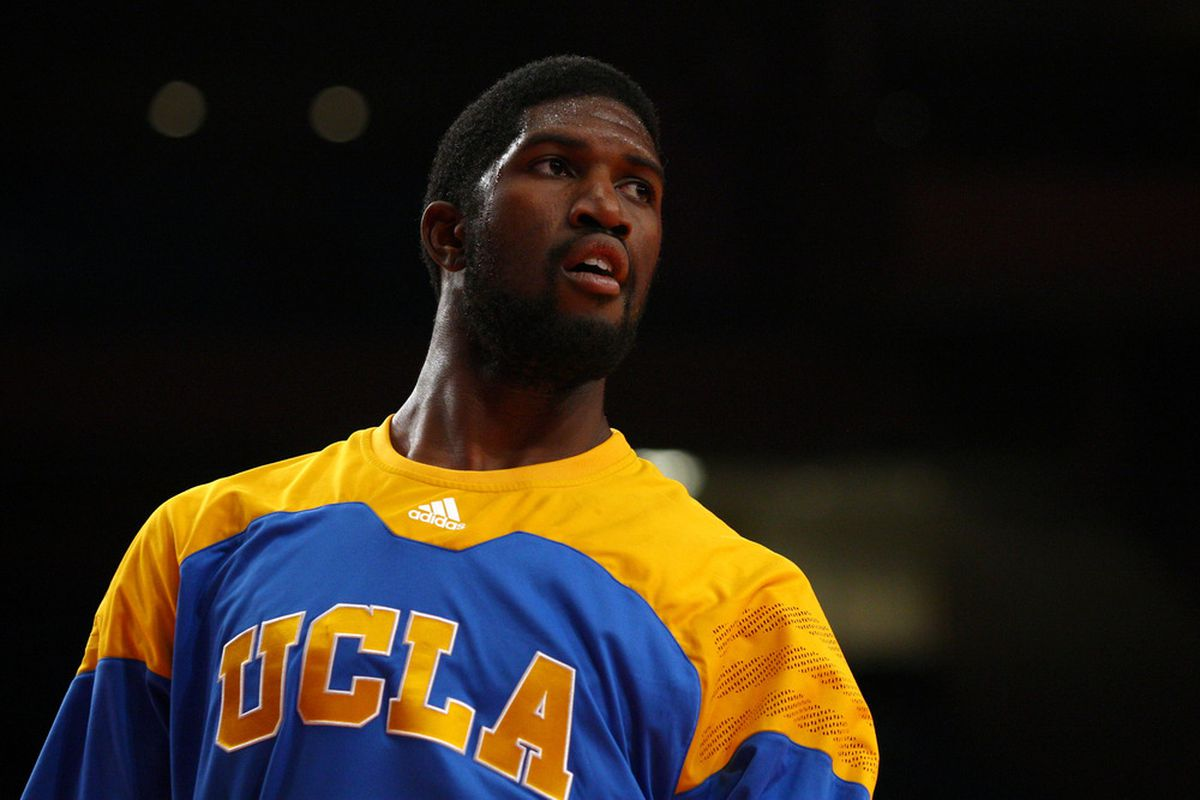 Anthony Stover and the rest of the Bruins warming up to take on St. John's.  (Photo by Chris Chambers/Getty Images)