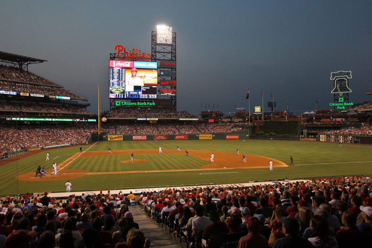 A view of the field during a game between the Chicago Cubs and the Philadelphia Phillies at Citizens Bank Park on June 10, 2011 in Philadelphia, Pennsylvania. The Phillies won 7-5. (Photo by Hunter Martin/Getty Images)