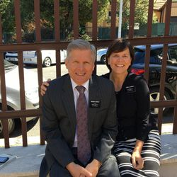 Elder Tom Herway and Sister Anita Herway, LDS Church service missionaries in Italy, are assigned to work with refugee projects and efforts in Italy.