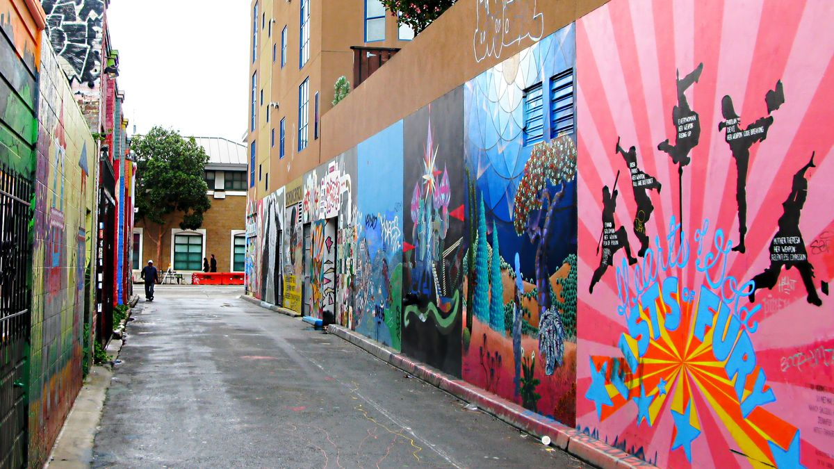 Clarion Alley in the Mission neighborhood of San Francisco.