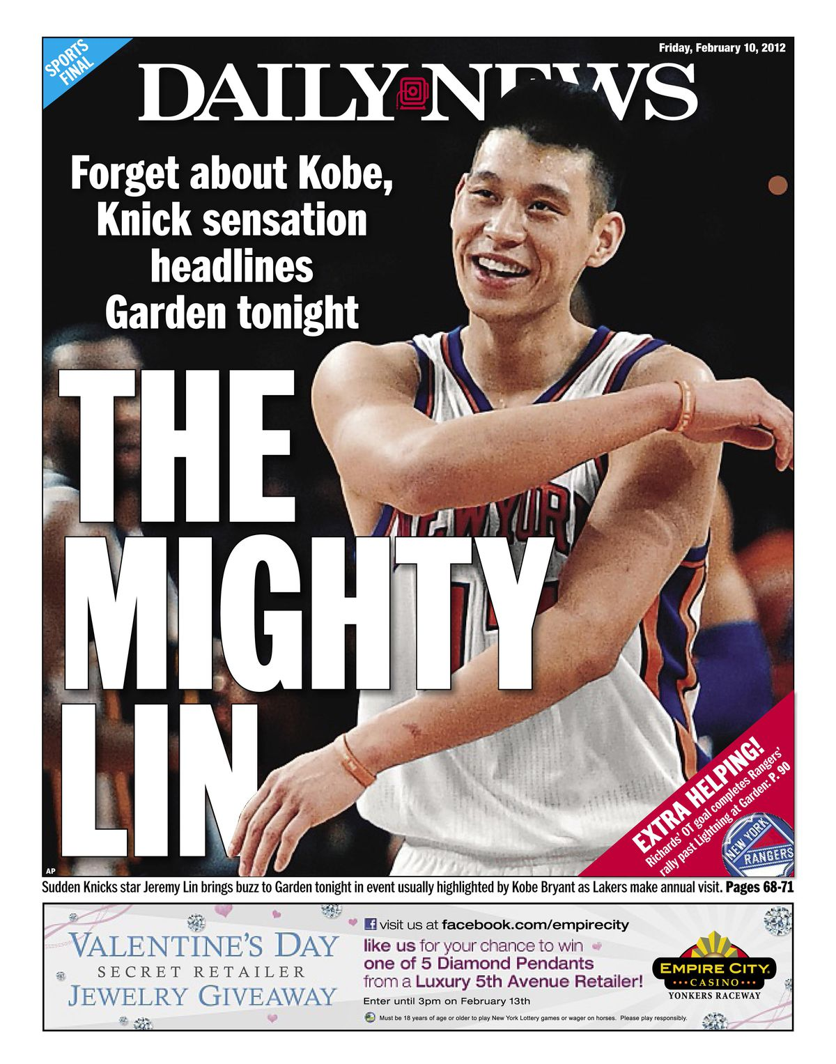 Daily News back page