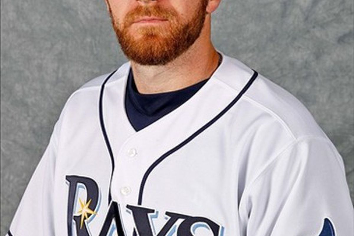 February 29, 2012; Port Charlotte, FL, USA; Tampa Bay Rays starting pitcher Wade Davis (40) poses for a portrait during photo day at Charlotte Sports Park.  Mandatory Credit: Derick E. Hingle-US PRESSWIRE