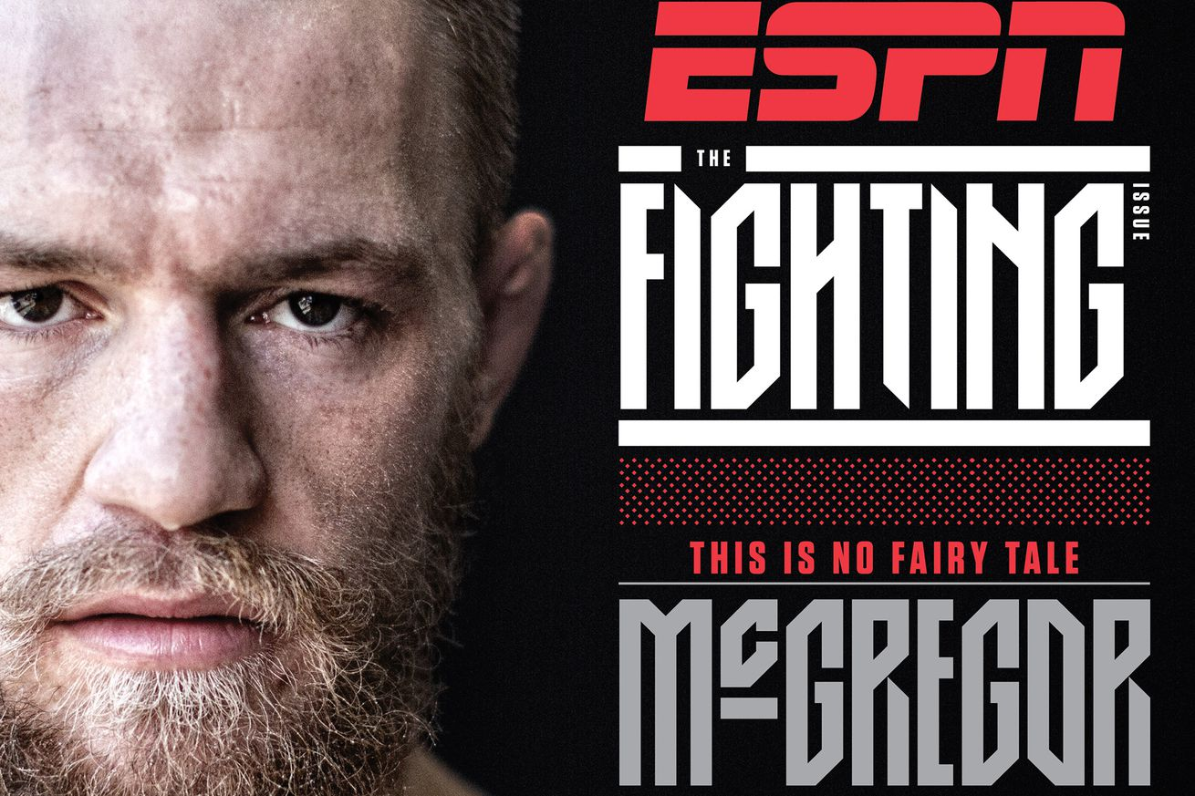 Pic: Conor McGregor cover of ESPN Magazine 'Fighting Issue' ahead of Floyd Mayweather match