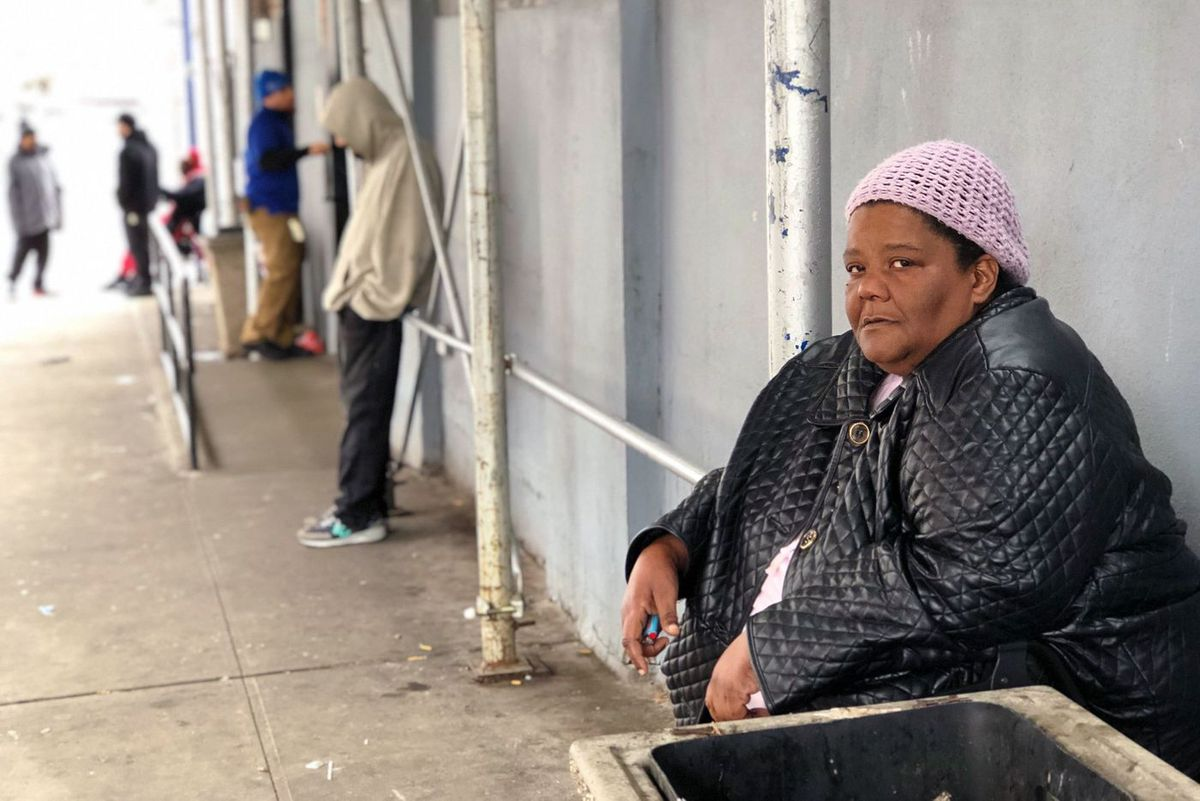 Juanita Garland, 55, of Co-op City, has been staying at the BronxWorks shelter in Hunts Point for a year and four months.