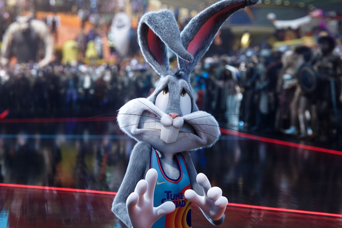Bugs Bunny winces in Space Jam: A New Legacy