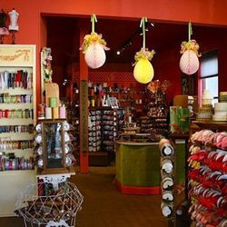 At the other end of the block is The Ribbonerie where you'll find the perfect ribbon to complete your Easter baskets. The backroom of antiques didn't make the move to this location from the old (in Potrero), but there's no shortage of antique lace, vintag