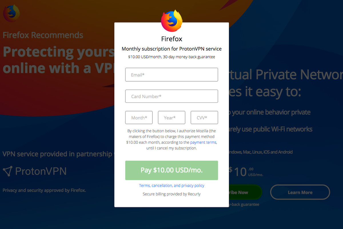 Mozilla says paid subscription service is coming to Firefox