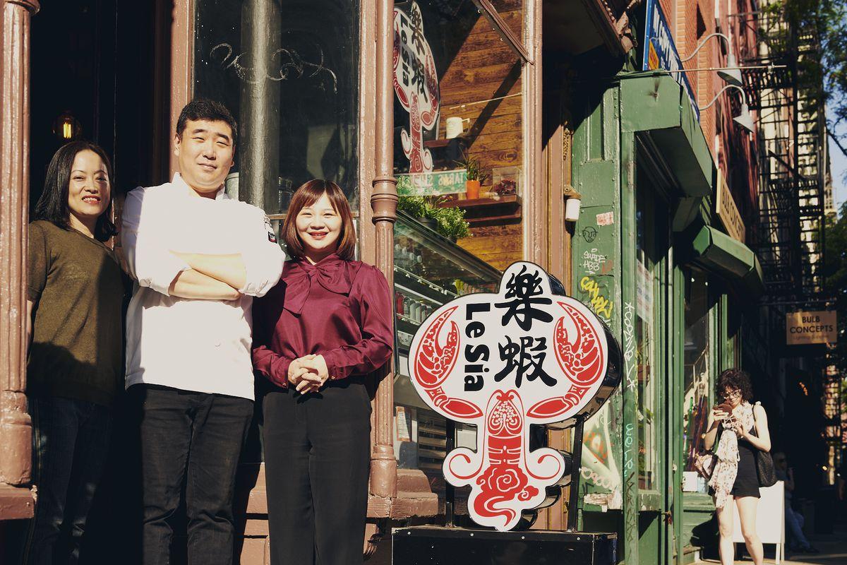 Tina Chen, Zac Zhang, and Yang Liu, Le Sia's owners