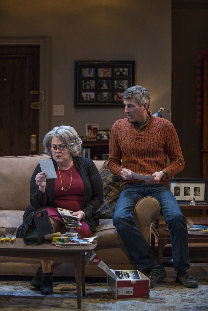 """Cindy Gold and Jeff Parker in Terrence McNally """"Mothers and Sons,"""" at Northlight Theatre. (Photo: Michael Brosilow)"""