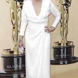 Meryl Streep arrives during the 82nd Academy Awards Sunday.